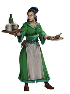 f npc Half Elf Barmaid Tavern Inn urban City lg Fantasy Rpg, Fantasy Women, Medieval Fantasy, Fantasy Girl, Dnd Characters, Fantasy Characters, Female Characters, Fantasy Portraits, Character Portraits
