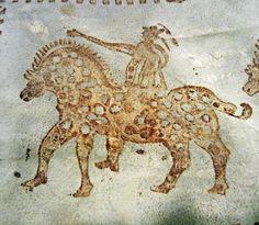 skinnfell - Google-søk Ancient Art, Sheep, Moose Art, Stamps, Google, Painting, Animals, Old Art, Seals