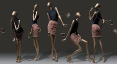 Mannequins female abstract collection Leila Gold - Hans Boodt ...