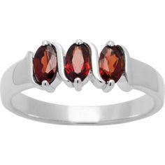 CHROMA Sterling Silver Oval-cut Birthstone 3-stone Ring (Size 6, aquamarine), Women's, Blue
