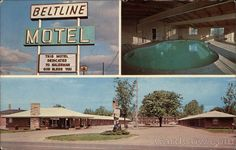 Beltline Motel, 1965 (may now be on Street, as that was originally called the Beltline). Dedicated to the SALESMAN! Well, that aught to tell you something. It's gone now - a LOWES mega store has that location. Grand Rapids Michigan, Back In The Day, Motel, Historical Photos, Vintage Postcards, Old Photos, Retro, Life Is Good, History