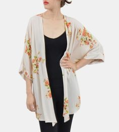 Korinne Floral Print Kimono by The Reverie on Scoutmob Shoppe