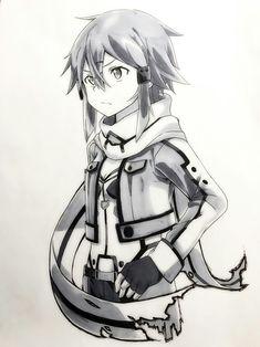 Watch anime online in English. Sinon Ggo, Kirito, Online Anime, Online Art, Manga Anime, Asada Shino, Sword Art Online Wallpaper, Poses References, Anime Crossover