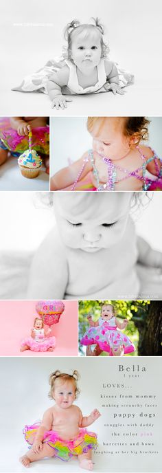 Some inspiration for all of you moms looking to photograph your little one's first birthday!  :)