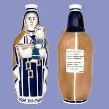 Botella con la imagen de la Virgen del Carmen
