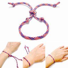 USA String Bracelet - 4th of July Bracelet - USA Bracelet - Mens Bracelet -  Womens Bracelet - String Bracelet - Mens USA Bracelet - Unisex by OurUniverseShop on Etsy
