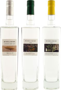 Russell Henry London Dry, Hawaiian Ginger & Malaysian Lime Gins | @Caskers