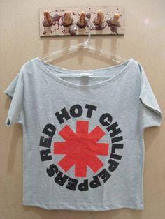 Gola Canoa Red Hot Chili Peppers Tamanho único Cor: Cinza R$ 45,00  www.elo7.com.br/dixiearte