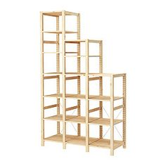 hejne 1 sección, madera conífera | solid pine and shelving - Scaffali Hejne