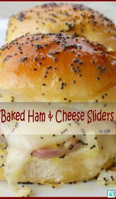 Baked Ham and Cheese Sliders r. - Baked Ham and Cheese Sliders recipes - Ham And Cheese Sliders Hawaiian, Ham Cheese Sliders, Hawian Roll Sliders, Kings Hawaiin Sliders, Kings Hawaiian Sandwiches, Ham And Swiss Sliders, Mini Sliders, Hawaiian Rolls, Baked Sandwiches