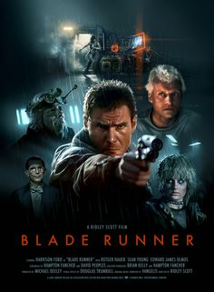 This is the first film that really stood out as before its time. This is a modern rendition of the original cover design. Blade runner was a stepping stone in modern Sci-Fi film production. Science Fiction, Fiction Movies, Blade Runner Poster, Film Blade Runner, Walt Disney Animation, Film Movie, Image Film, Bon Film, Sci Fi Movies