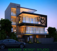 Beautiful Minimalist Architecture House in a Sloped Lot - Top House Designs Architecture Design, House Architecture Styles, Minimalist Architecture, Architecture Interiors, Modern Exterior House Designs, Modern House Facades, Modern House Design, House Design Photos, Bungalow House Design
