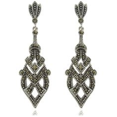 Marcasite Earrings for wedd- Dolce Giavonna Silverplated Marcasite Art Deco Dangle Earrings - Overstock™ Shopping - Top Rated Dolce Giavonna Gemstone Earrings $15. roughly