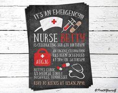 Nurse Invite // Personalized Printable Chalkboard Nurse