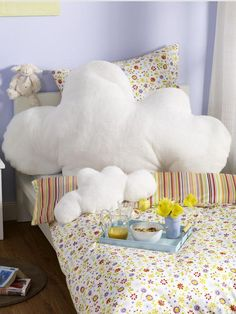 cloud pillow diy - haha, voor in de zetel