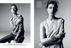 'What Are You Staring At' Kati Nescher by Richard Bush for i-D Spring 2014 [Editorial] - Fashion Copious