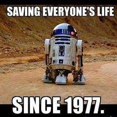 Saving lives since '77! #starwars #theforceawakens #1977 #r2d2