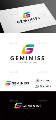 Geminiss Logo Template — Vector EPS #gen #identity • Available here → https://graphicriver.net/item/geminiss-logo-template/9085392?ref=pxcr
