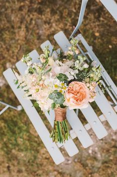 Would like to have one just like that for my wedding! <3 the peach and white in combination! - Gaynes Park Wedding, Flower Crown Bride, Ellie Gillard Photography