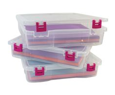 Pack 'em then stack 'em! Creative Options Project Boxes are perfect for everything! Available at HobbyLobby!