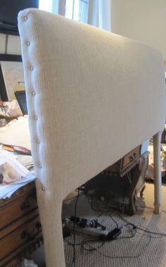 Make a fantastic upholstered headboard with this simple tutorial: