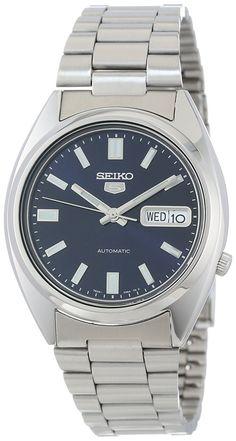 Amazon.com: Seiko Men's SNXS77 Seiko 5 Automatic Blue Dial Stainless-Steel Bracelet Watch: Seiko: Clothing