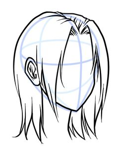 drawing different hair textures in manga