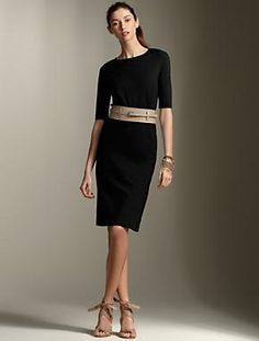 Talbots - like the neckline and sleeve length. Would want a rich jewel color, not black.