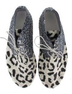 Anniel leopard zilver glitter hoog - BACK IN STOCK