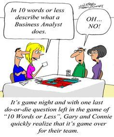 Humor - Cartoon: A Clear Business Analyst Job Description?