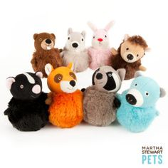 Martha Stewart Pets™ Squeaker Ball Dog Toy - PetSmart (We have Moxie the Fox & Scully the Skunk)