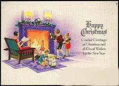 Image result for 1920s Christmas Cards