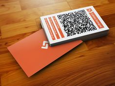University professor business card by layoutlet on creativemarket hybrid business card a hybrid paper to digital business card with qr code reheart Image collections