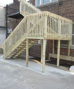Outdoor Stairs | Fire Escape Staircase | Wooden Exterior Stairs