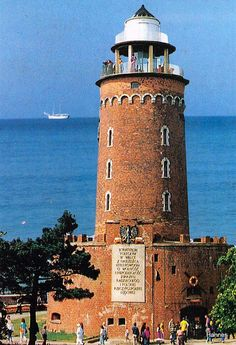 Kołobrzeg lighthouse is one of Poland's most famous Baltic Coast lighthouses.