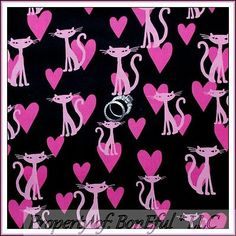BonEful Fabric FQ Cotton Girl Michael Miller Bling Kitty Heart Siamese Cat Pink Cat Fabric, Siamese Cats, Baby Items, Kitty, Shopping, Ebay, Pink, Kitten, Siamese Cat