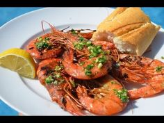 Gambas a la Plancha - My Blog Tapas, About Me Blog, The Originals, Youtube, Food, Planks, Eten, Meals