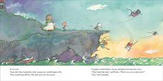Página interior del cuento Caramba ilustrado por la ilustradora canadiense Marie Louise Gay. http://libros-cuentos-infantiles-juveniles.elparquedelosdibujos.com/2015/09/caramba.html