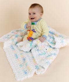 Crochet Contented Baby Blankie Crochet Pattern | Red Heart