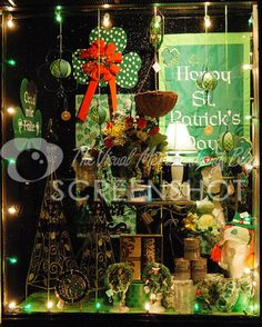 St Patricks Day Store Window in New Jersey