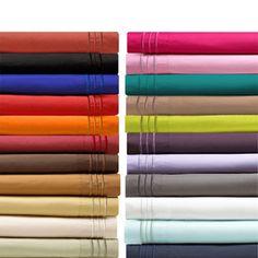 Elegant Comfort Luxurious Wrinkle-free, Fade-resistant, Deep Pocket Bed Sheet Set