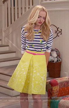 817944c756 Liv s striped pineapple top and yellow skirt on Liv and Maddie. Outfit  Details  https