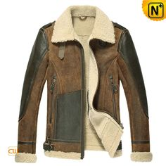 Sheepskin Flight Jacket for Men CW878313 $1585.89 - www.cwmalls.com
