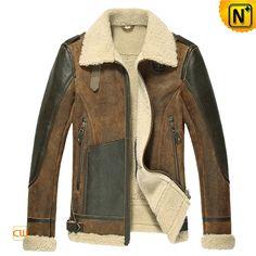 Sheepskin Flight Jacket for Men CW878313 $1585.89 - www.cwmalls.com