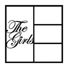 The Girls Scrapbooking Die Cut Overlay