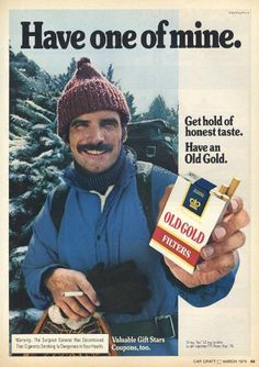 """""""I personally like the Costco gig better. But I'm willing to hand out samples wherever."""" (Funny bad retro cigarette ads)"""