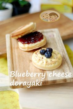 Our toddlers love these mini pancakes with cheese and blueberry filling..all i need is a hot cup of coffee.