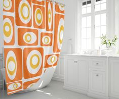 Who says the fun has to stop at the bathroom door? Shop mid century modern shower curtains featuring our original all modern fabrics. Pad Design, All Modern, Modern Fabric, Modern Shower Curtains, Bathroom Decor, Curtains, Shower Curtain, Decorating Blogs, Modern Shower