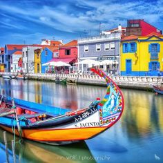 Aveiro, Portugal by Check the artists feed for more great images Places In Portugal, Porto Portugal, Visit Portugal, Portugal Travel, Spain And Portugal, Portugal Trip, Learn Brazilian Portuguese, Portuguese Culture, Roadtrip