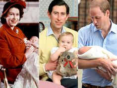 Three generations of living heirs: Prince Charles, Prince William and Prince George
